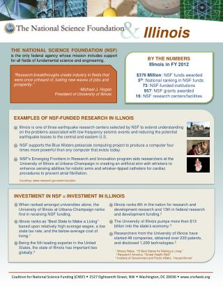 BY THE NUMBERS Illinois in FY 2012