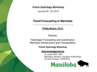 Flood Forecasting In Manitoba