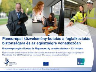 Páneurópai közvélemény-kutatás a foglalkoztatás biztonságára és az egészségre vonatkozóan