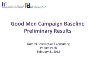 Good Men Campaign Baseline Preliminary Results
