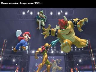 Durant un combat  de super smash Wii U…