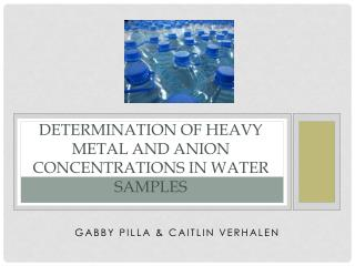 Determination of Heavy Metal and Anion Concentrations in Water Samples