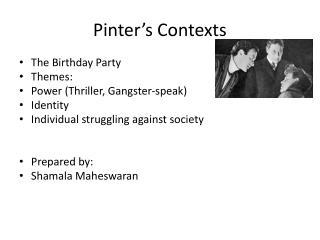 Pinter's Contexts