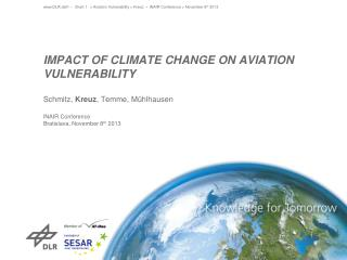 Impact of climate cHange on aviation vulnerability