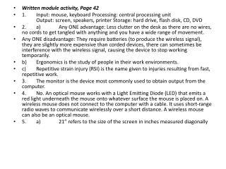 Written module activity, Page 42