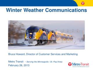 Winter Weather  Communications