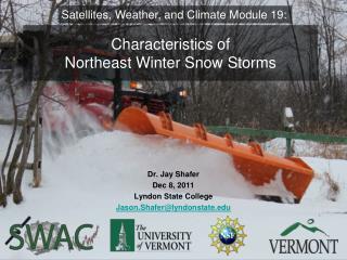 Characteristics of  Northeast Winter Snow Storms