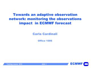 Towards an adaptive observation network: monitoring the ...