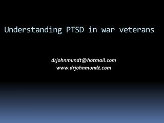Understanding PTSD in war veterans