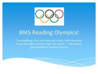 BMS Reading Olympics!
