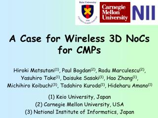 A Case for Wireless 3D NoCs for CMPs