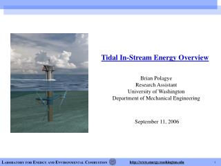 Tidal In-Stream Energy Overview