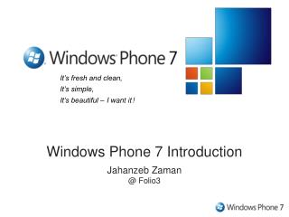 Windows Phone 7 Introduction