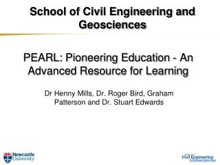 PEARL:  Pioneering Education - An Advanced Resource for Learning