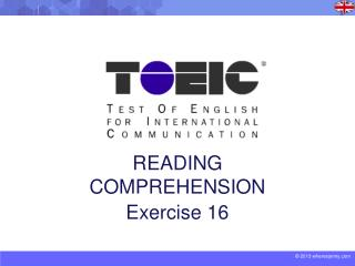 READING COMPREHENSION Exercise 16