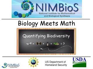 Biology Meets Math