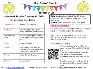 Mrs. Evans' Bunch