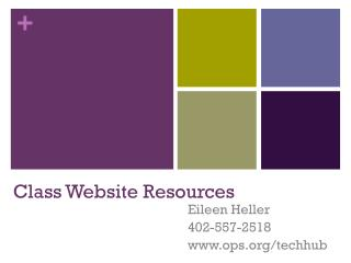 Class Website Resources