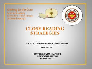 Close reading strategies