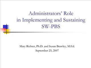 Administrators  Role  in Implementing and Sustaining  SW-PBS