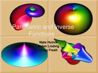 Parametric and Inverse Functions