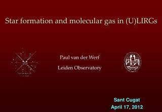 Star formation and molecular gas in (U)LIRGs