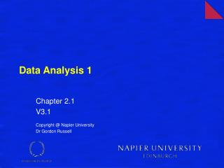 Data Analysis 1