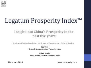 Legatum Prosperity Index™