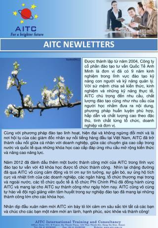 AITC NEWLETTERS