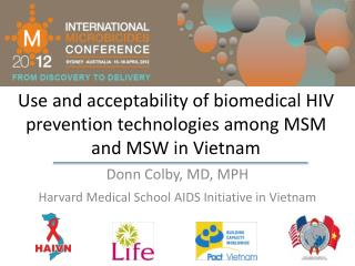Use and acceptability of biomedical HIV prevention technologies among MSM and MSW in Vietnam
