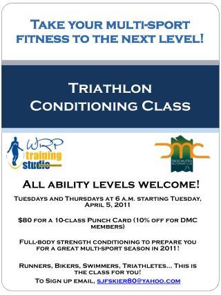Triathlon Conditioning Class