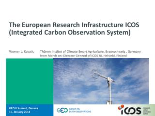 The European Research Infrastructure ICOS (Integrated Carbon Observation System)