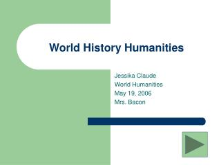 World History Humanities