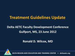 Treatment Guidelines Update