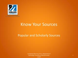 Know Your Sources