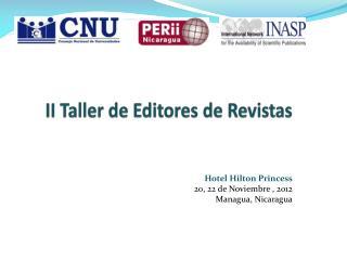 II Taller de Editores de Revistas