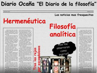"""Diario Ocaña  """"El Diario de la filosofía"""""""