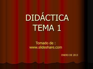 DIDÁCTICA TEMA 1
