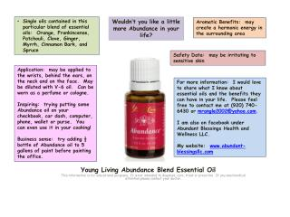 Young Living Abundance Blend Essential Oil