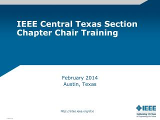 IEEE Central Texas Section Chapter Chair Training