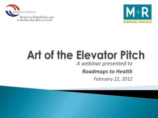 Art of the Elevator Pitch