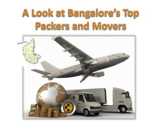 A  Look  at Bangalore's  Top  Packers and Movers