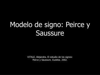 Modelo de signo: Peirce y Saussure