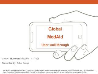 Global MedAid User walkthrough