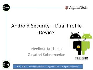 Android Security – Dual Profile Device