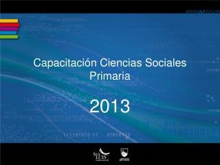 Capacitaci�n Ciencias Sociales Primaria