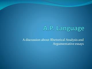 A.P. Language