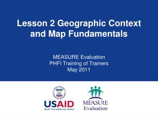 Lesson 2  Geographic Context and Map Fundamentals
