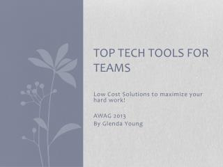 Top tech tools for teams