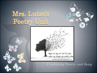 Mrs. Lutze's Poetry Unit